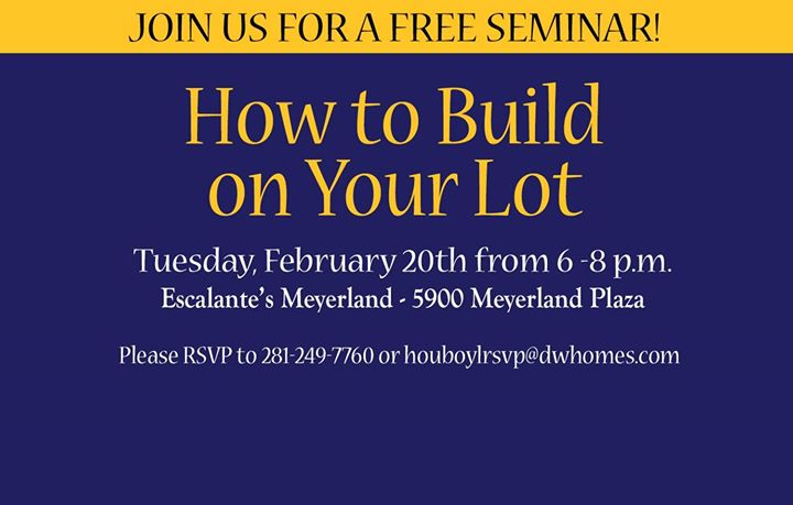 Build On Your Lot Seminar
