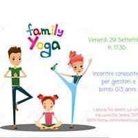 Yoga family - incontro conoscitivo per genitori e bimbi 0-3