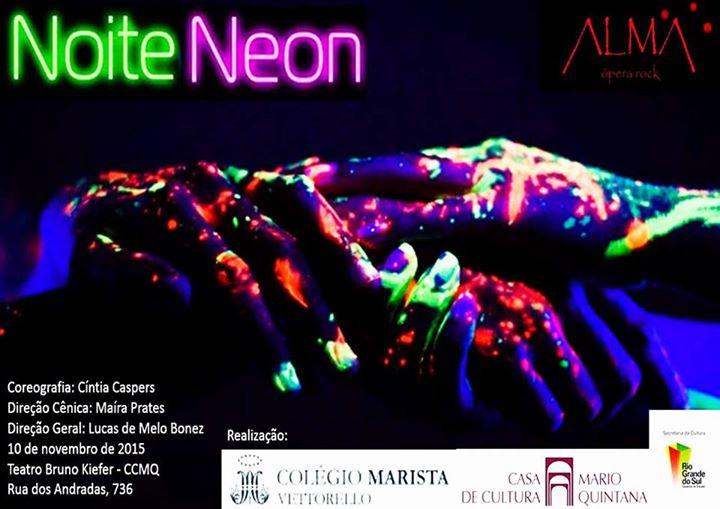 """Cartas de """"Noite Neon"""" (2015), produzido por Melline Guimarães."""