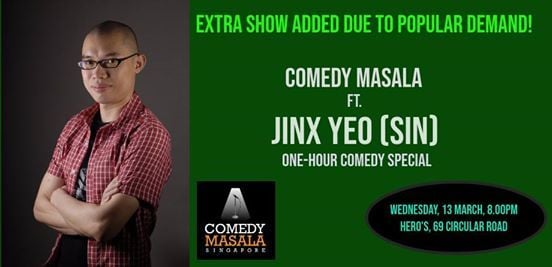 Standing Tickets Only  JINX YEO 1-Hour Comedy Special (13 MAR)