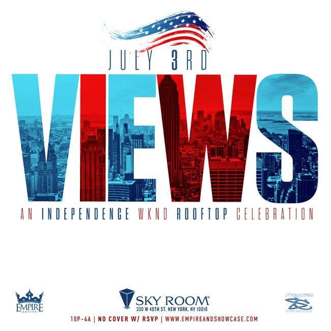 VIEWS A HipHop vs Reggae vs Soca Independence Wk Rooftop Celebration