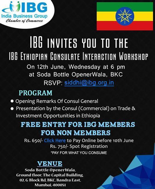 IBG Ethiopian Interaction Workshop at IBG | Mumbai