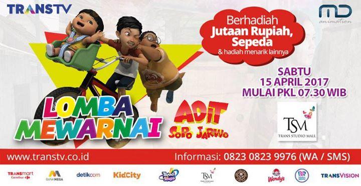 Lomba Mewarnai Adit Sopo Jarwo At Trans Studio Mall Tsm Bandung