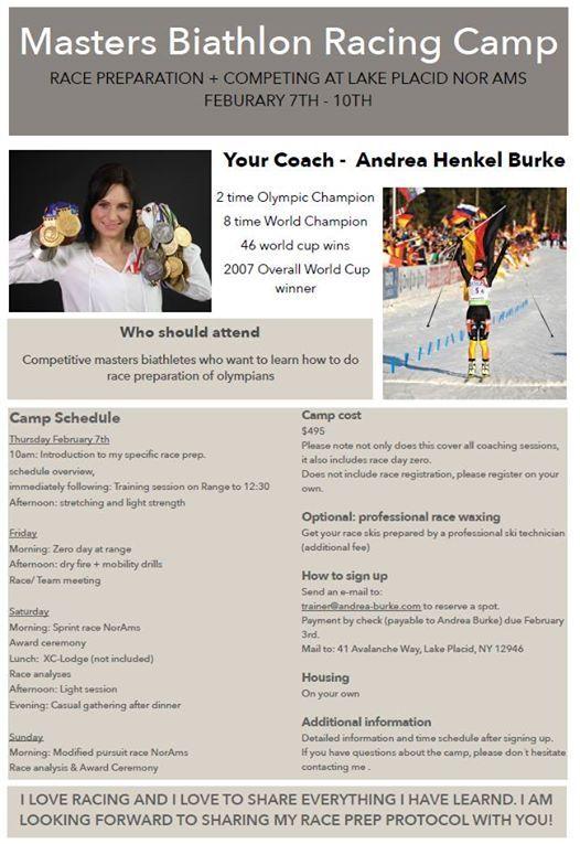 Masters Biathlon Camp with Andrea Henkel Burke
