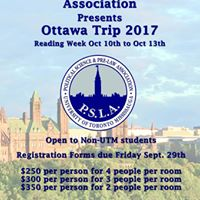 Reading Week 2017 Ottawa Trip