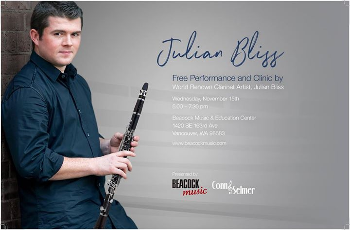 Julian Bliss Free Performance and Clinic