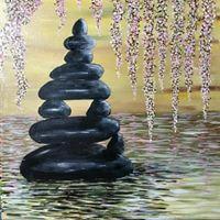 Paint a Zen Pond with Debra 25