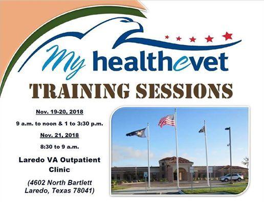 My HealtheVet Training Sessions at Laredo VA Clinic