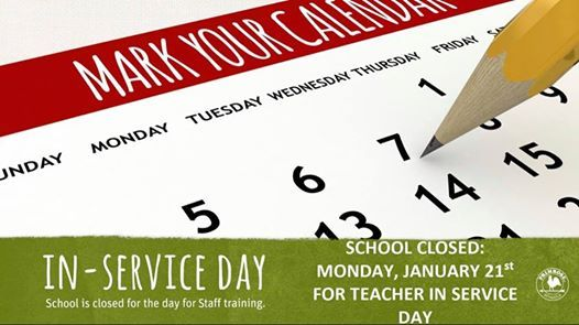 School Closed for In-service Day