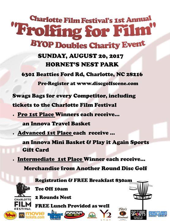 Charlotte Film Festivals 1st Annual Frolfing for Film