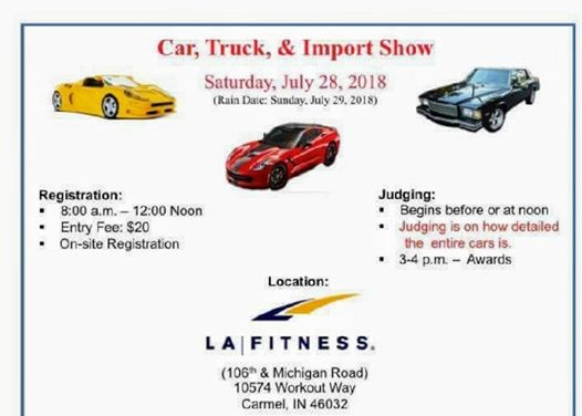 Indy Classical Glass Car Show At LAFitness Th Michigan Rd - Carmel indiana car show