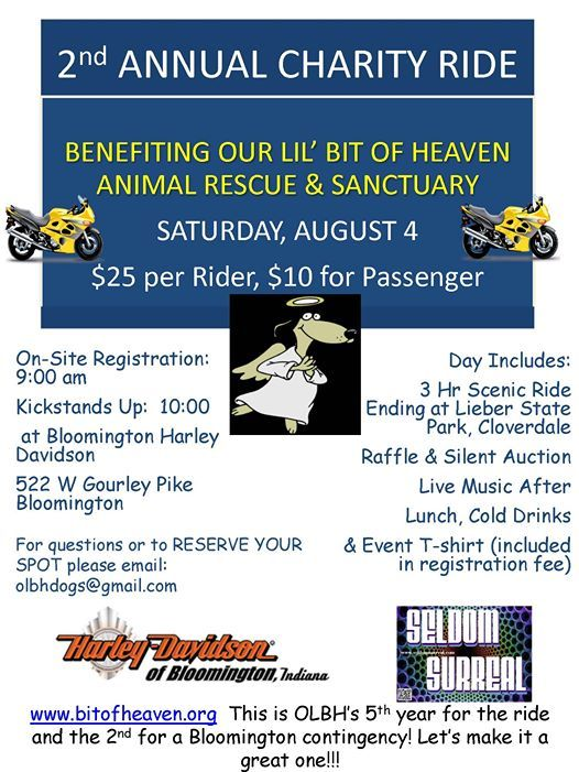 5th Annual Hogs For Dogs Charity Ride Bloomington Version At