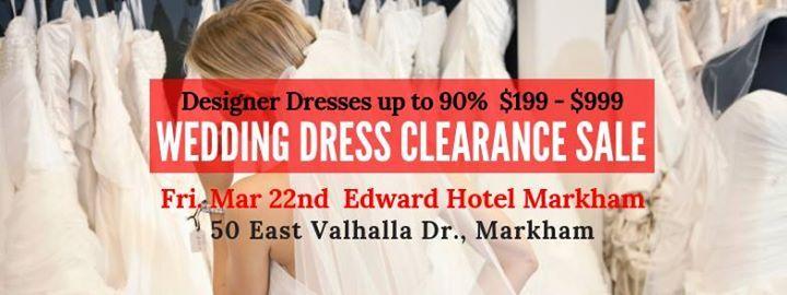 Markham Pop Up Wedding Dress Sale