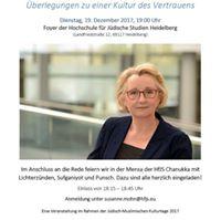 Heidelberger Hochschulrede mit Theresia Bauer MdL