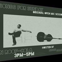 Reggie Sullivans Songs for Sunday Open Mic 3PM