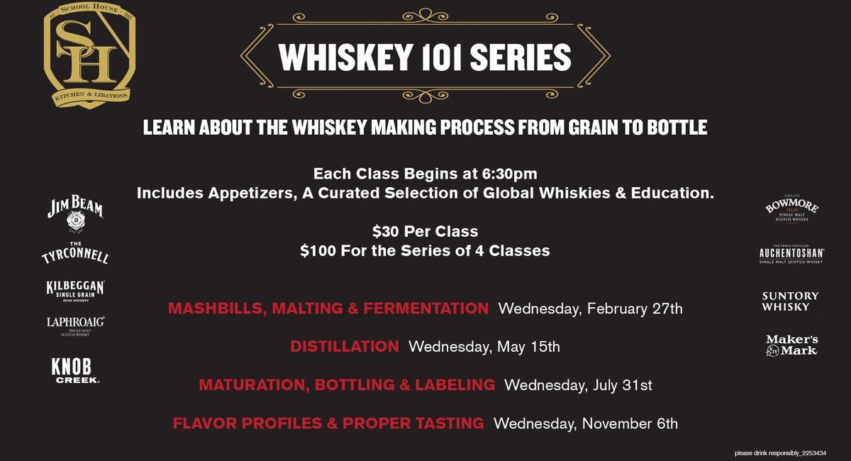 Whiskey 101  School House Kitchen & Libations