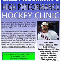Sandy McCarthys High Performance Hockey Clinic