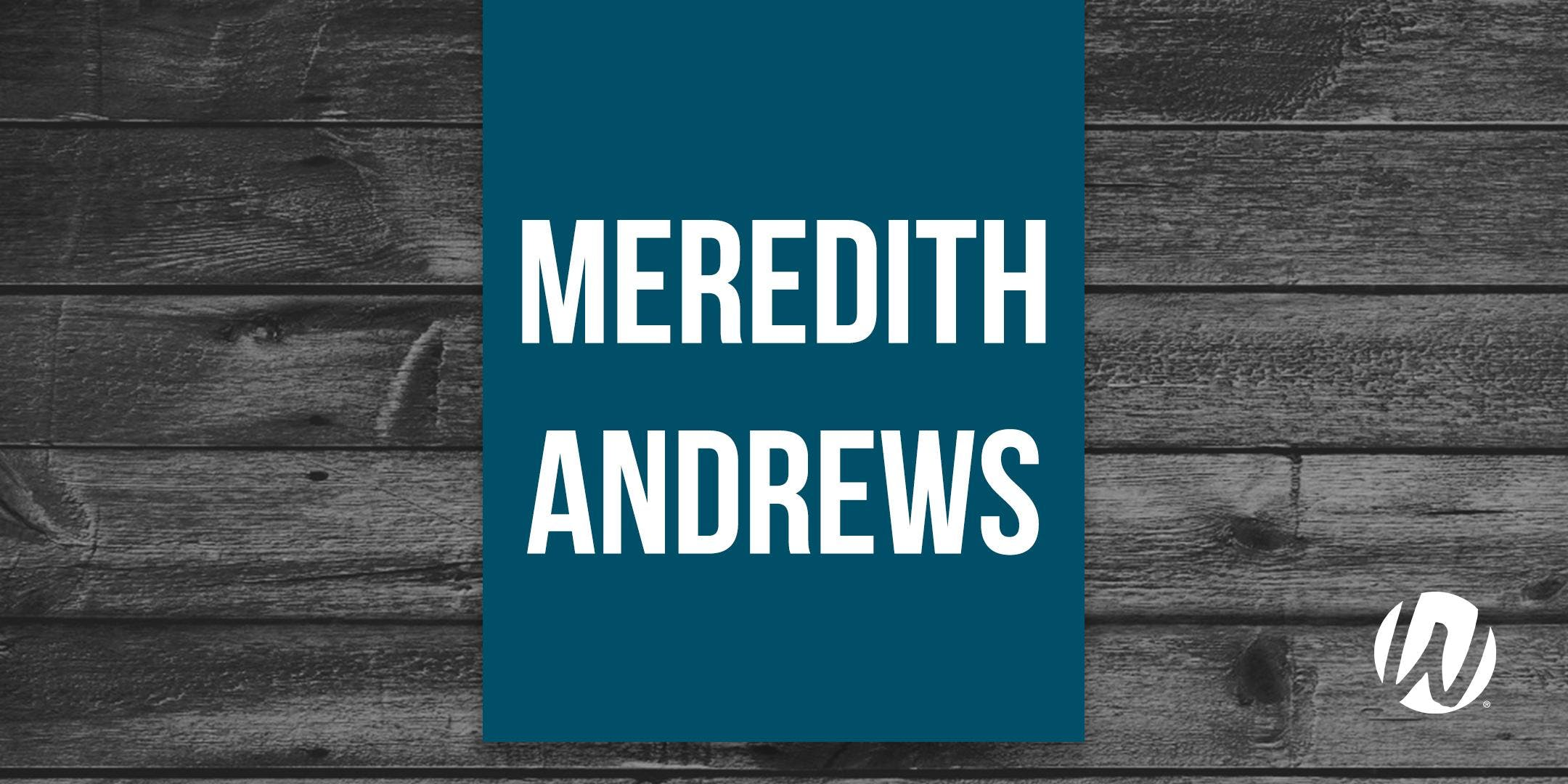 Meredith Andrews - Word of Life Summer Big Nights