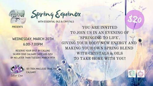 Spring Equinox Essential Oils and Crystal Workshop