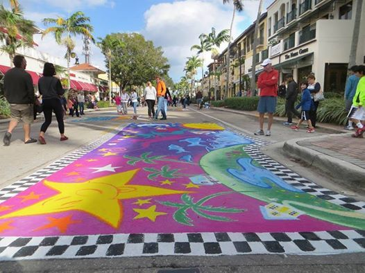 Naples Chalk Art on 5th