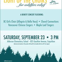 BCCF Light Up the Choirs TriCities - September 23 at 3pm