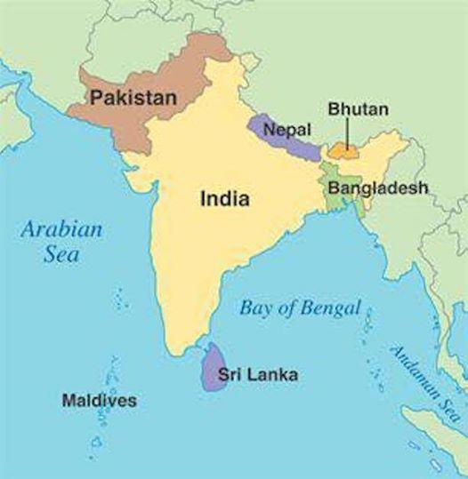 Geographie des indischen Subkontinents