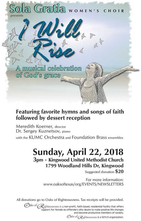 Sola Gratia Womens Choir I Will Rise Concert at Kingwood
