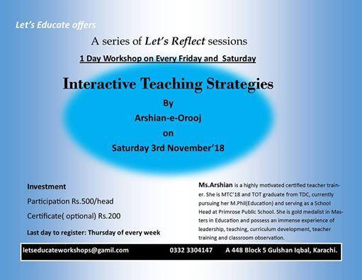 Interactive Teaching Strategies at Let's Educate, Karachi