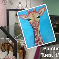 Painting at Dinks Place Giraffe