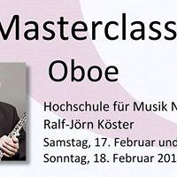 Masterclass OBOE - Ralf-Jrn Kster 2018
