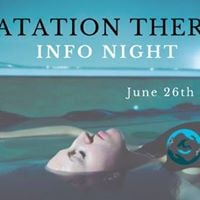 Floatation Therapy Info Night (Free)