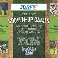 Grown-Up Games Benefiting JDRF