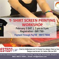 T-Shirt Screen Printing Workshop