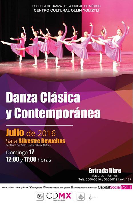 Danza cl sica y danza contempor nea escuela de danza de for Sala ollin yoliztli