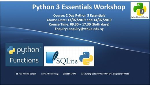 Python 3 Essentials Workshop at St  Hua Private School, Jurong
