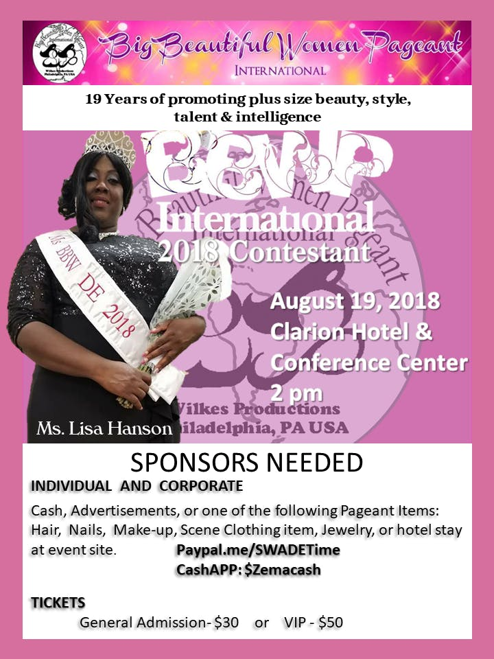 Bbw International 2018 Supporting Ms Bbw De 2018 Lisa Hanson