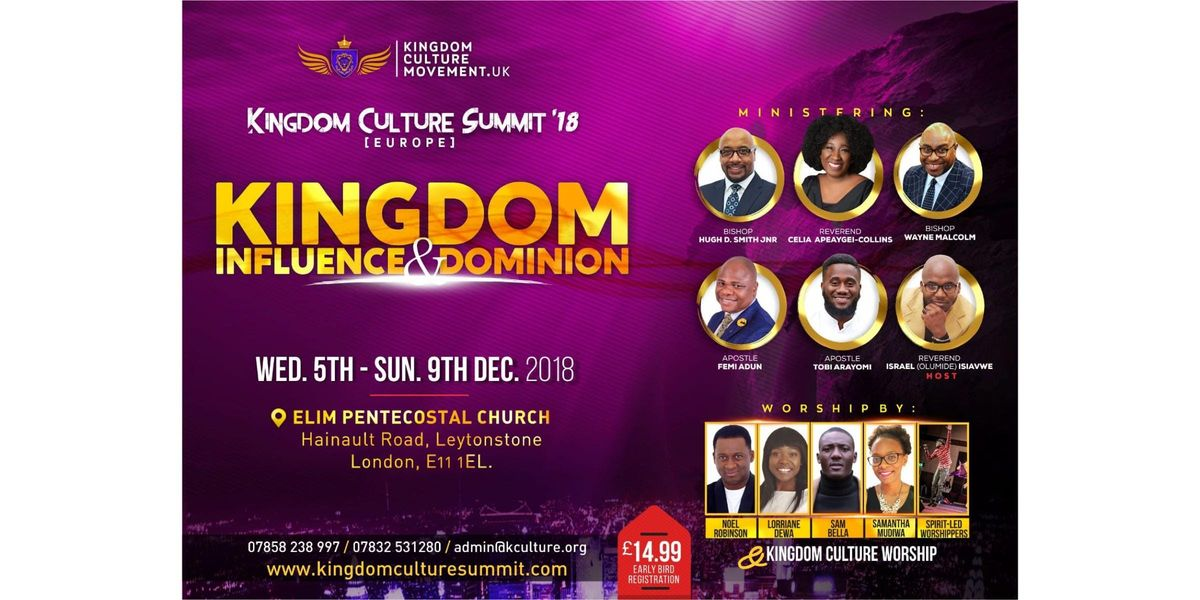 KINGDOM CULTURE SUMMIT (Europe) 2018