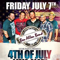 4th of July After Party with The Ben Allen Band at Pelican Larrys