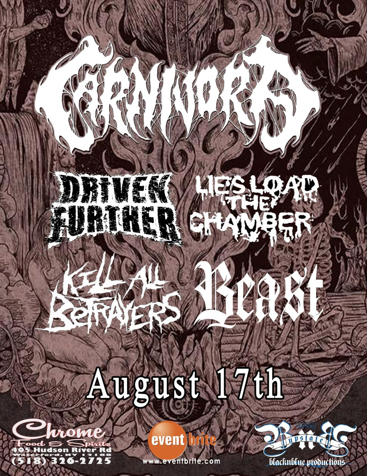 Carnivora Driven Further Lies Load The Chamber Kll All Betrayers Beast