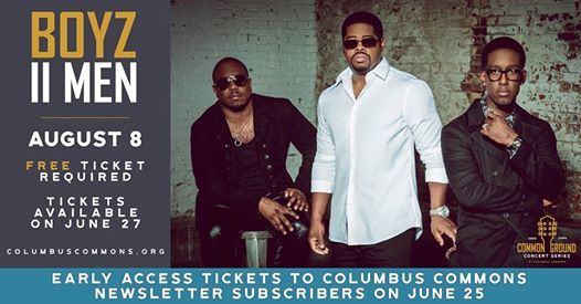 Common Ground Concert Series Boyz II Men- free tickets required