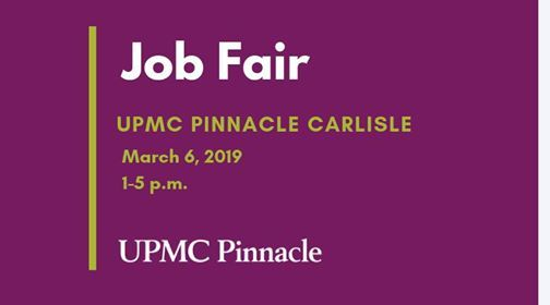 Job Fair - UPMC Pinnacle Carlisle at UPMC Pinnacle