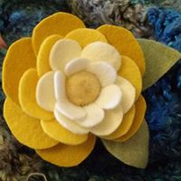 Needle Felted Flower Class