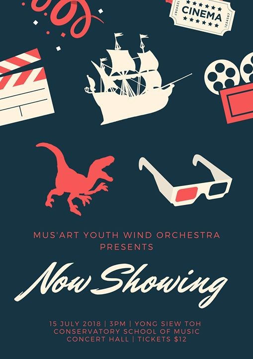 MusArt Youth Wind Orchestra presents Now Showing