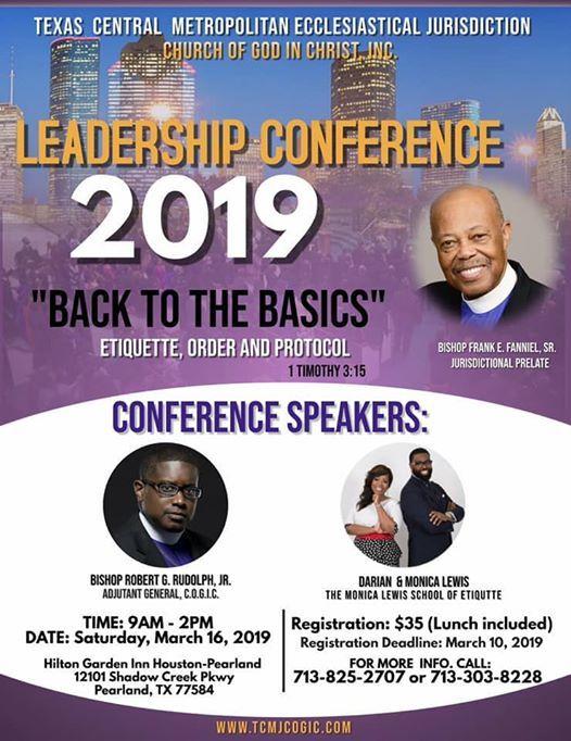 TCMJ Leadership Conference at Hilton Garden Inn Pearland Hotel