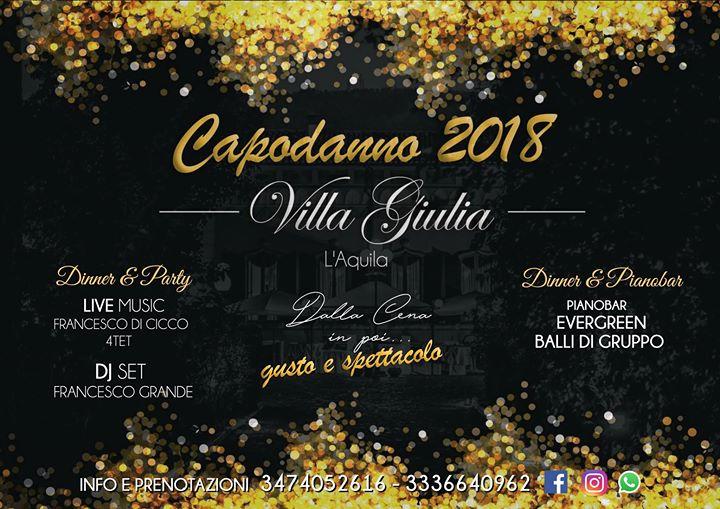 Capodanno 2018 gusto e spettacolo at villa giulia l for Arredamenti giulia l aquila