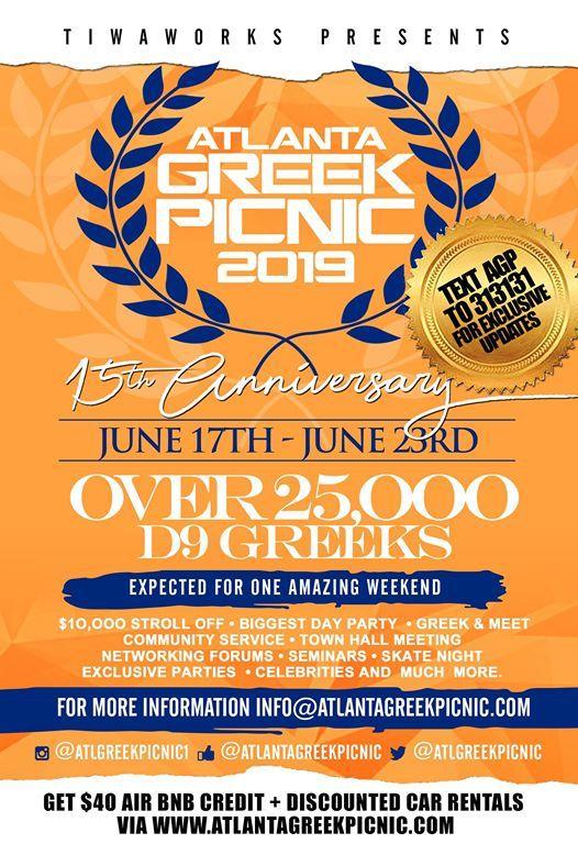 2019 Atlanta Greek Picnic ( June 17- 23rd)