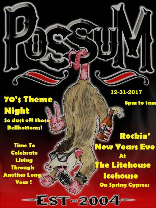 new years eve with possum 70s theme night
