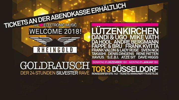 Jetzt Silvester Goldrausch im Tor3. Welcome 2018