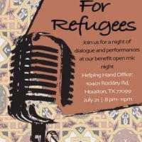 Rhymes for Refugees an open mic night