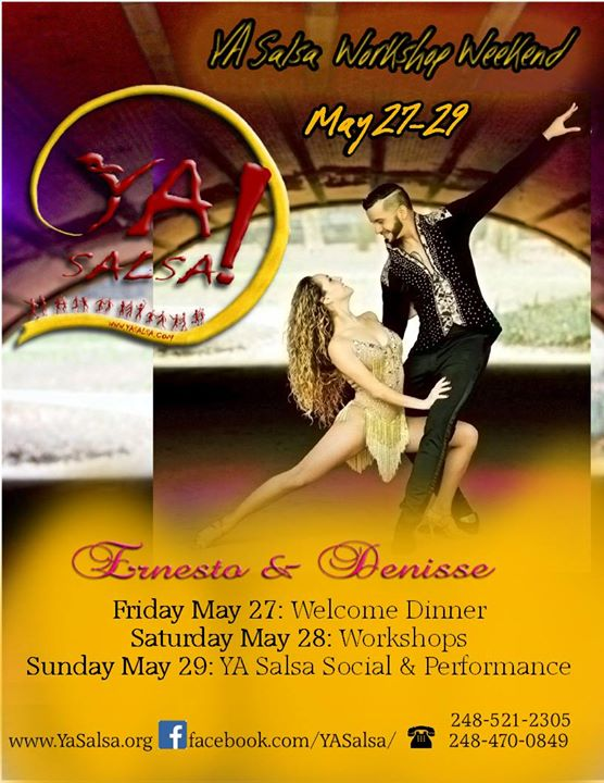 May 28 YA Salsa Workshop Weekend
